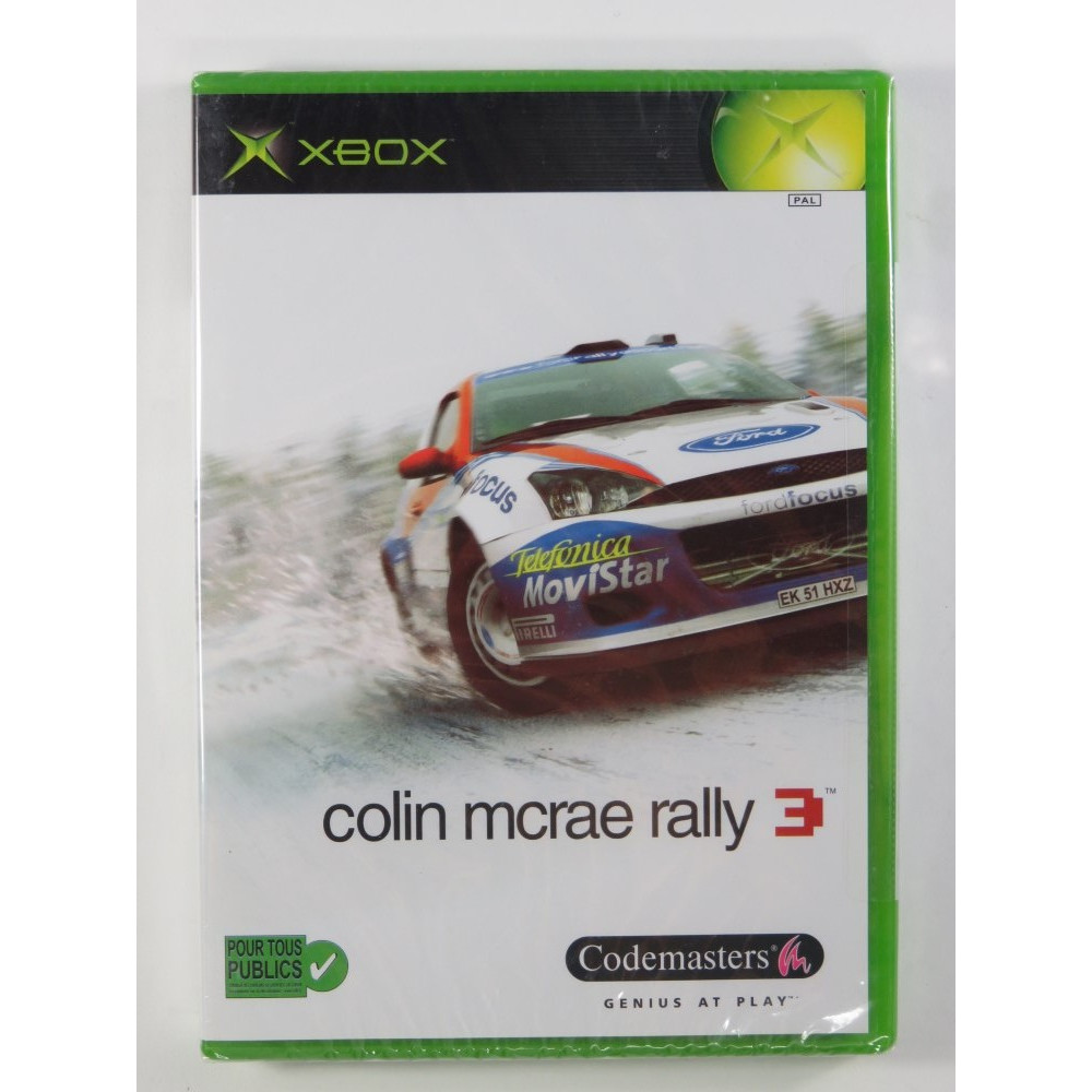 COLIN MRAE RALLYE 3 XBOX PAL-FR NEW