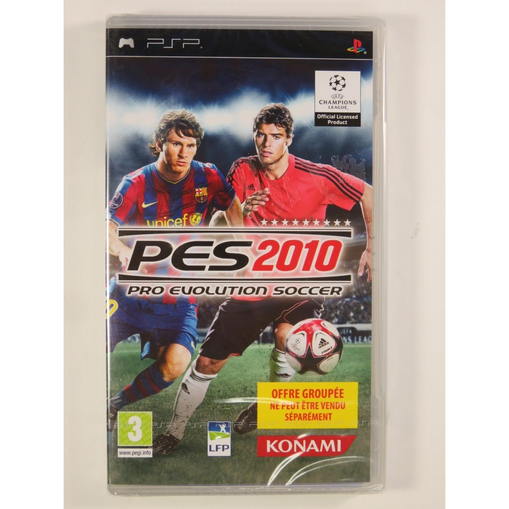 PRO EVOLUTION SOCCER 2010 BUNDLE COPY PSP FR NEW