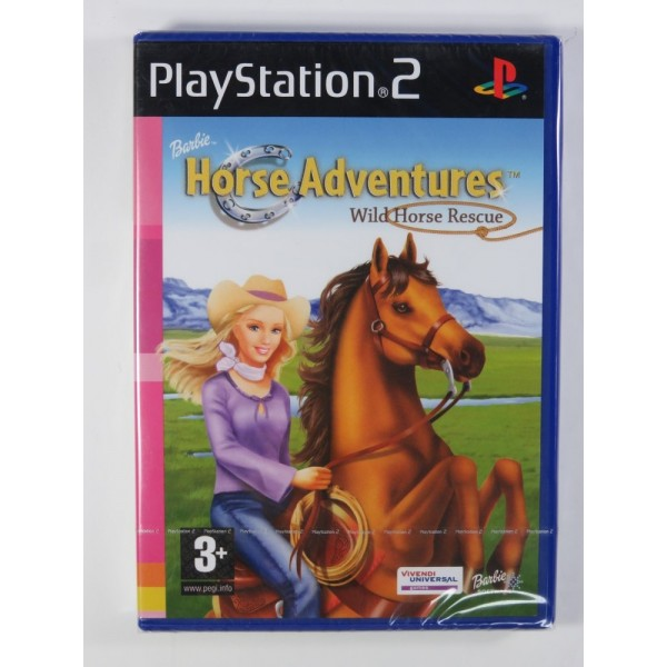 BARBIE HORSE ADVENTURE - WILD HORSE RESCUE PS2 PAL-EURO NEW