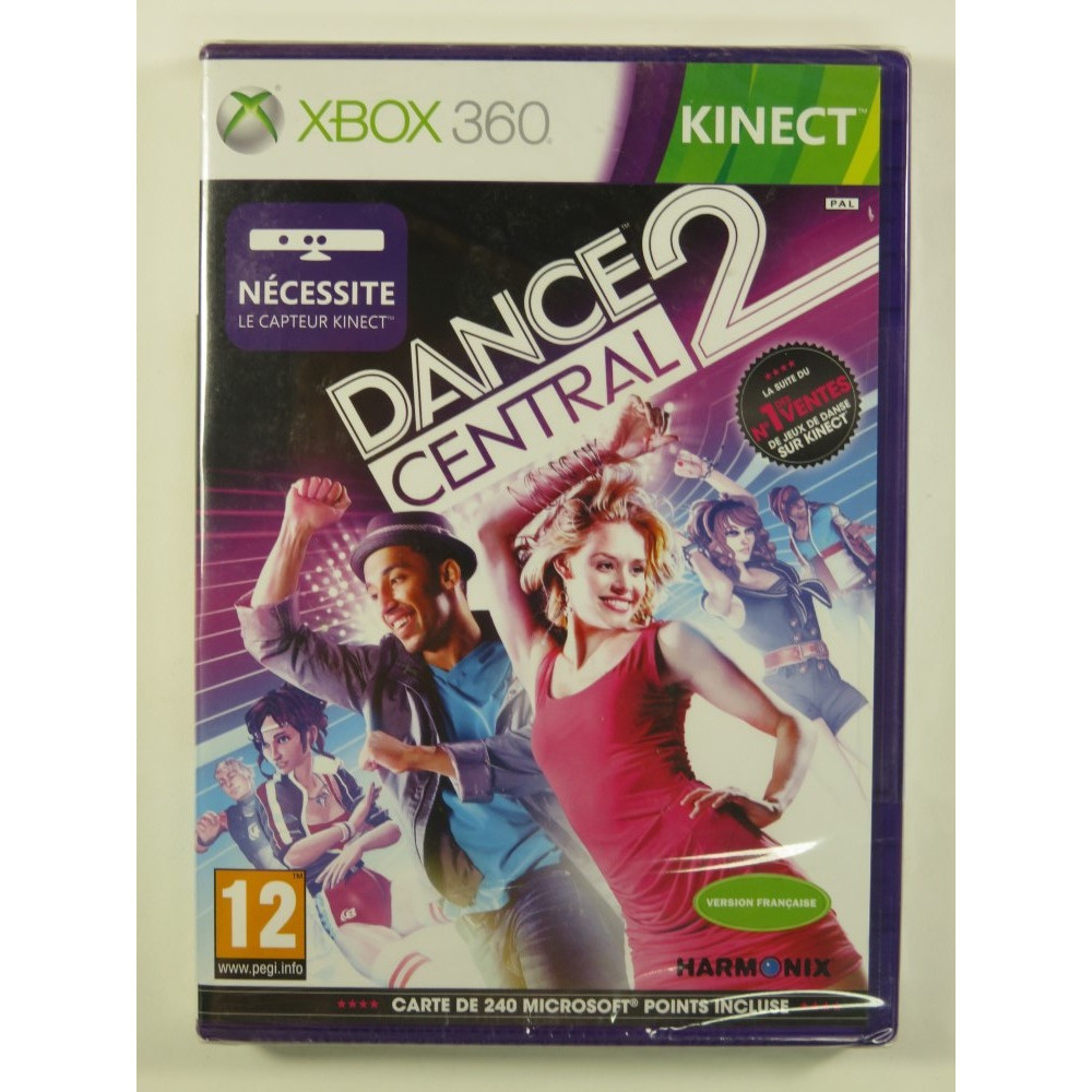 DANCE CENTRAL 2 KINECT X360 PAL-FR NEW
