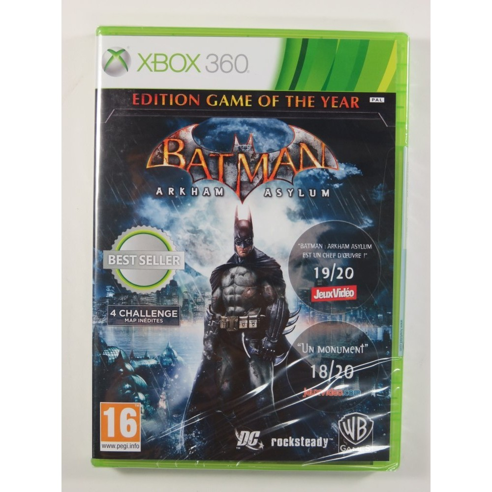 BATMAN ARKHAM ASYLUM (GAME OF THE YEAR) XBOX 360 PAL-FR NEW