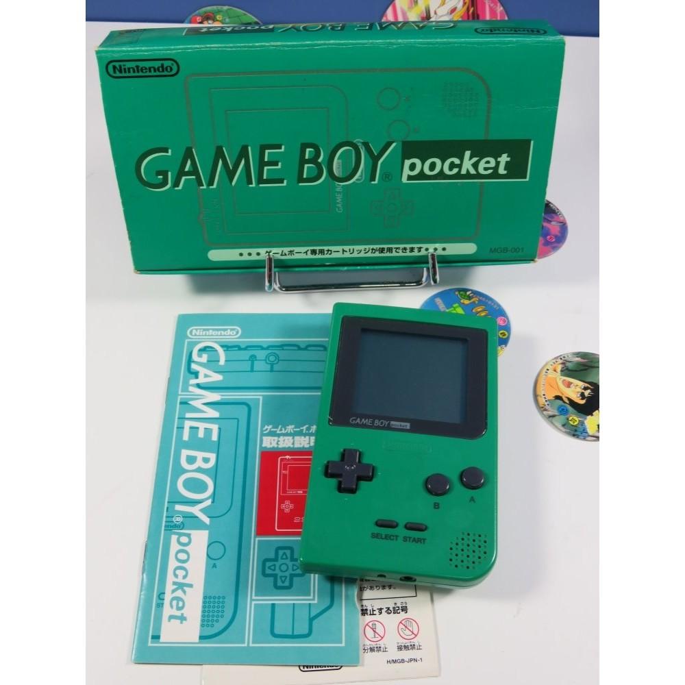 CONSOLE GAME BOY POCKET GREEN MGB-001 NTSC-JPN OCCASION (COMPLETE BON ETAT)