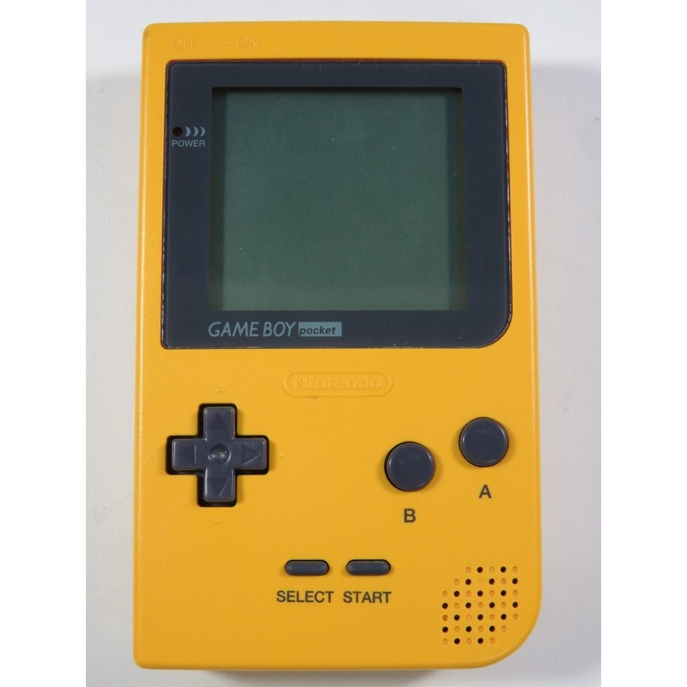 CONSOLE NINTENDO GAME BOY POCKET YELLOW MGB-001 JPN REGION FREE (USED, NO BOX, GOOD CONDITION)