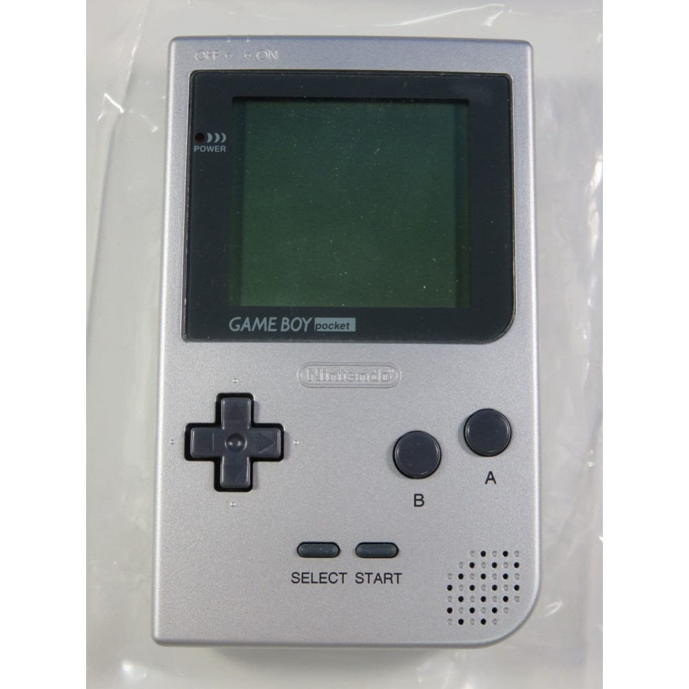 CONSOLE NINTENDO GAME BOY POCKET SILVER MGB-001 JPN REGION FREE (USED, NO BOX, VERY GOOD CONDITION)