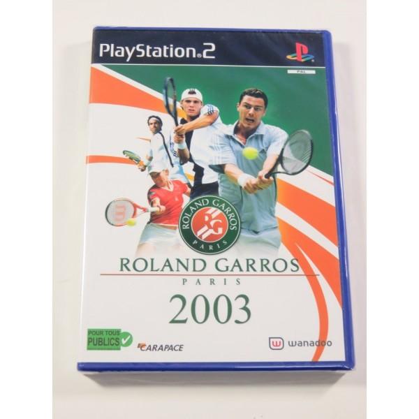 ROLAND GARROS PARIS 2003 PS2 PAL-FR NEUF