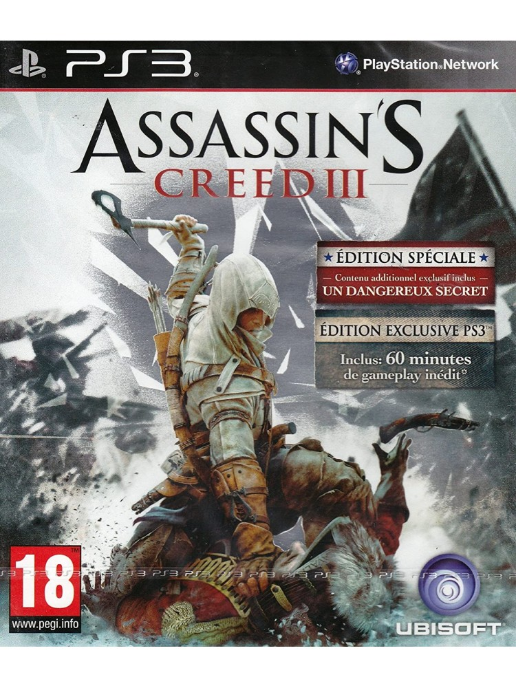 ASSASSIN S CREED III EDITION SPECIALE PS3 FR OCCASION