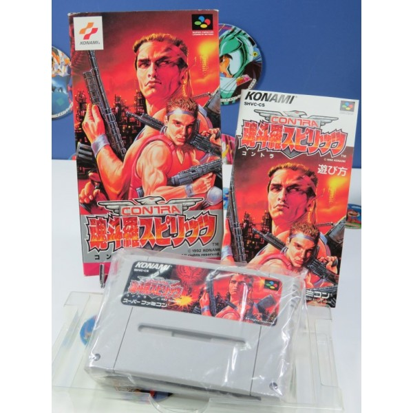 CONTRA SPIRITS -PROBOTECTOR- SFC NTSC-JPN OCCASION (COMPLET TBE +REG.CARD) KONAMI 1992