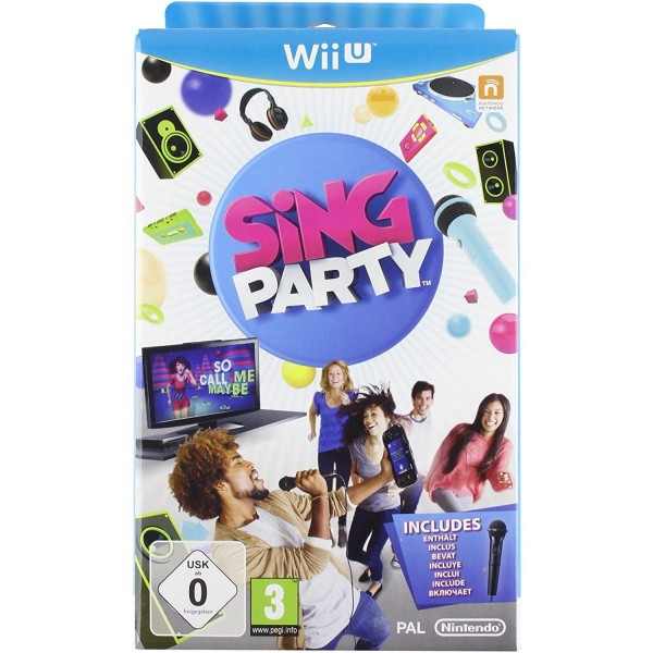 SING PARTY + MICRO WIIU PAL-EURO OCCASION