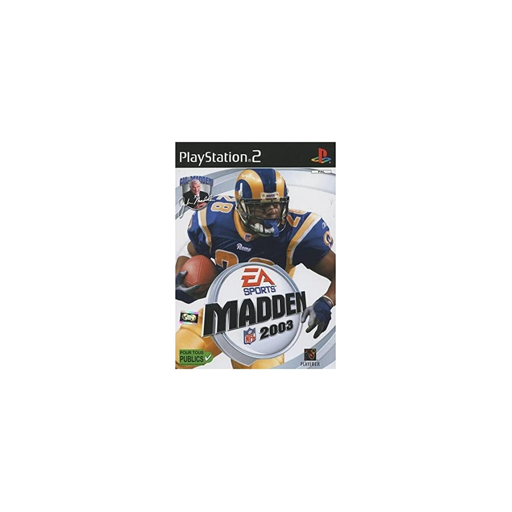 MADDEN 2003 PS2 PAL-FR OCCASION