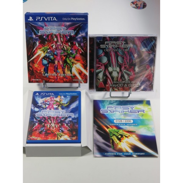 FAST STRIKER LIMITED EDITION PSVITA ASIAN AVEC TEXTE EN ANGLAIS (COMPLET - EXCELLENT CONDITION) (SHMUP - ARCADE)
