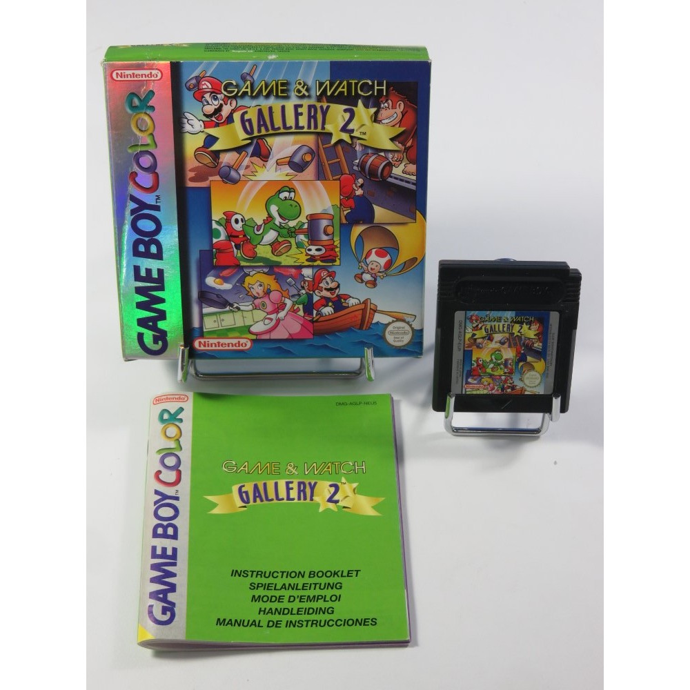 GAME & WATCH GALLERY 2 GAMEBOY COLOR (GBC) NEU6 (COMPLET - GOOD CONDITION)