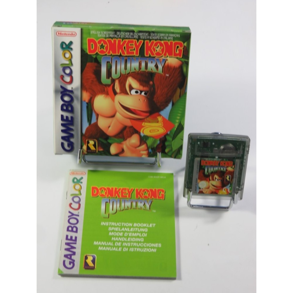 DONKEY KONG COUNTRY GAMEBOY COLOR (GBC) NEU6-4 (COMPLET - GOOD CONDITION)