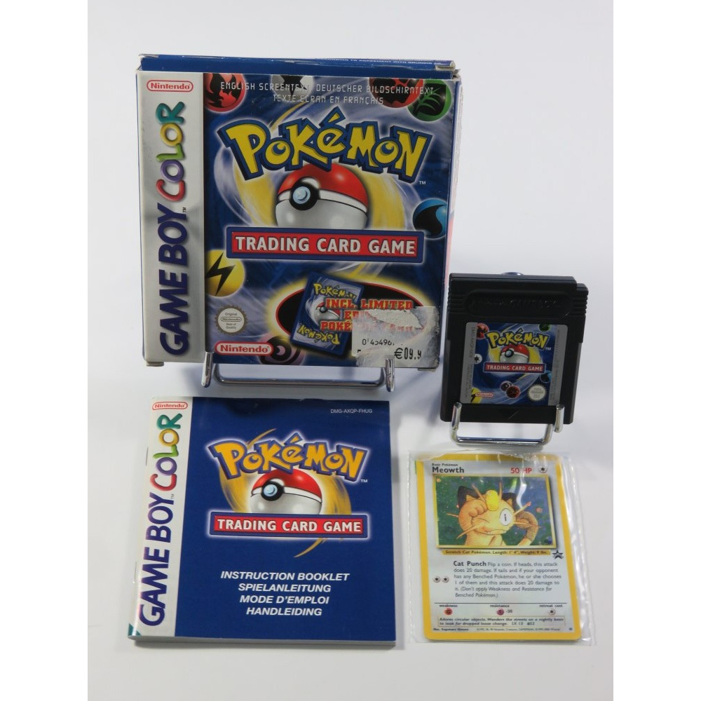 POKEMON TRADING CARD GAME GAMEBOY COLOR NFHUG (GBC) (COMPLET - GOOD CONDITION) (WITH SEALED POKEMON CARD)