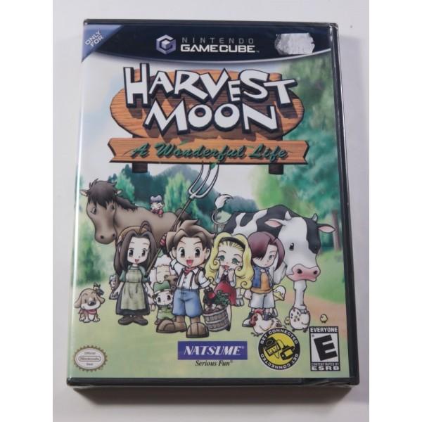 HARVEST MOON - A WONDERFUL LIFE GAMECUBE NTSC-USA NEUF - BRAND NEW (OFFICIAL BLISTER)