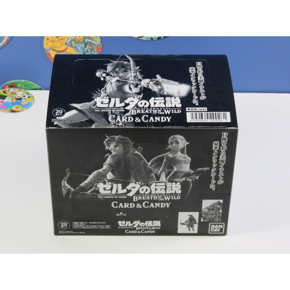 BOX BANDAI 20 CARD & CANDY THE LEGEND OF ZELDA BREATH OF THE WILD JPN NEUF - BRAND NEW (COLLECTOR CARDS)