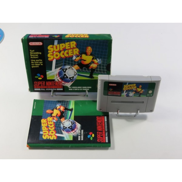 SUPER SOCCER SUPER NINTENDO (SNES) PAL-FAH (COMPLET - GOOD CONDITION)