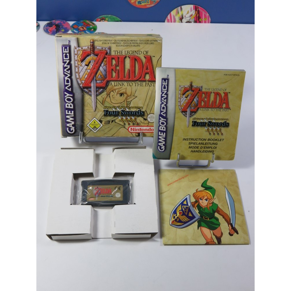 THE LEGEND OF ZELDA - A LINK TO THE PAST - PLUS NEW FOUR SWORDS GAMEBOY ADVANCE (GBA) NEU6 (COMPLET - GOOD CONDITION)