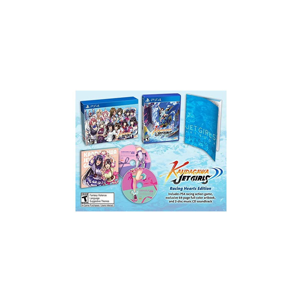 KANDAGAWA JET GIRLS RACING HEARTS EDITION PS4 US NEW