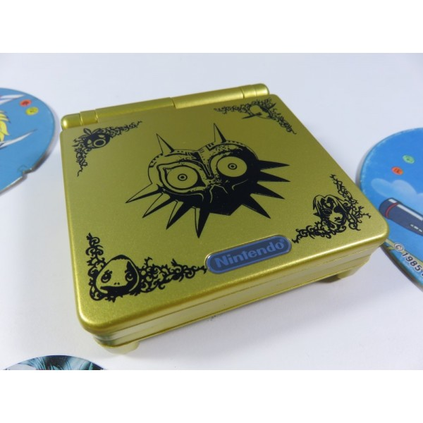 CONSOLE GAMEBOY ADVANCE SP (GBA SP) AVEC COQUE DE REMPLACEMENT ZELDA (REGION FREE, VERY GOOD CONDITION)