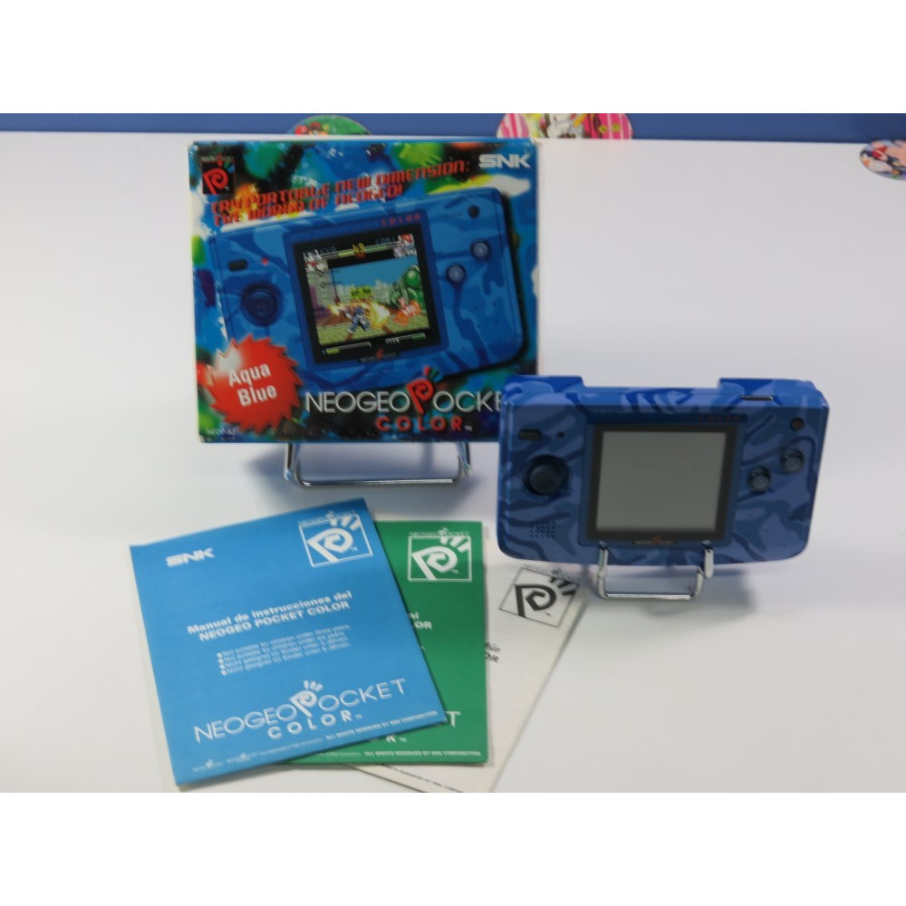 CONSOLE SNK NEO GEO POCKET COLOR AQUA BLUE (NEOP-A2) EURO (COMPLETE - GOOD CONDITION)