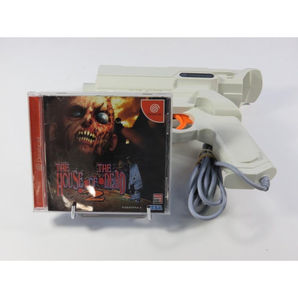 THE HOUSE OF THE DEAD 2 + GUN HKT-7800 SEGA DREAMCAST NTSC-JPN (SANS BOITE - GOOD CONDITION)