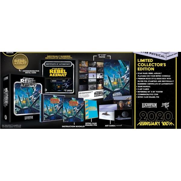 STAR WARS REBEL ASSAULT PREMIUM EDITION SEGA CD US NEW(LIMITED RUN GAMES)