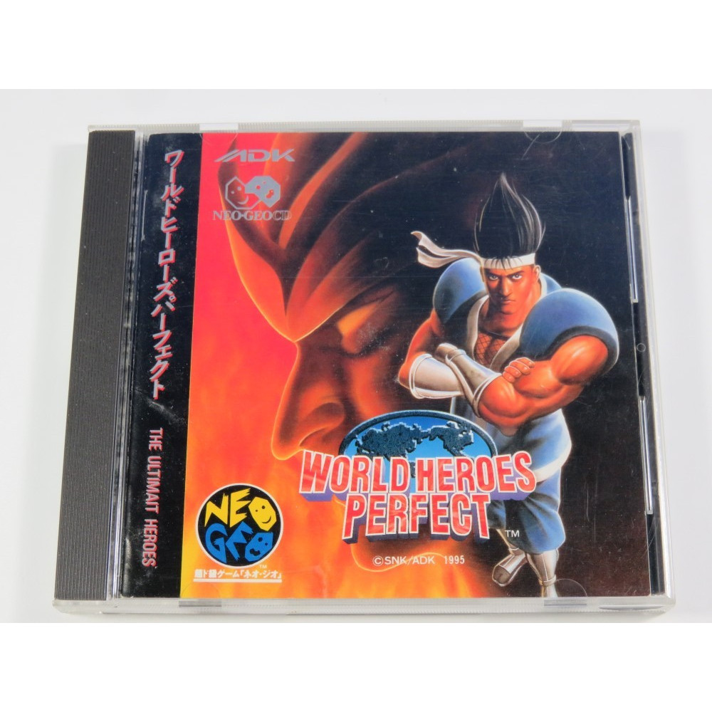 WORLD HEROES PERFECT NEOGEO CD NTSC-JPN (COMPLET-GOOD CONDITION) SNK-ADK 1995 (NGCD)