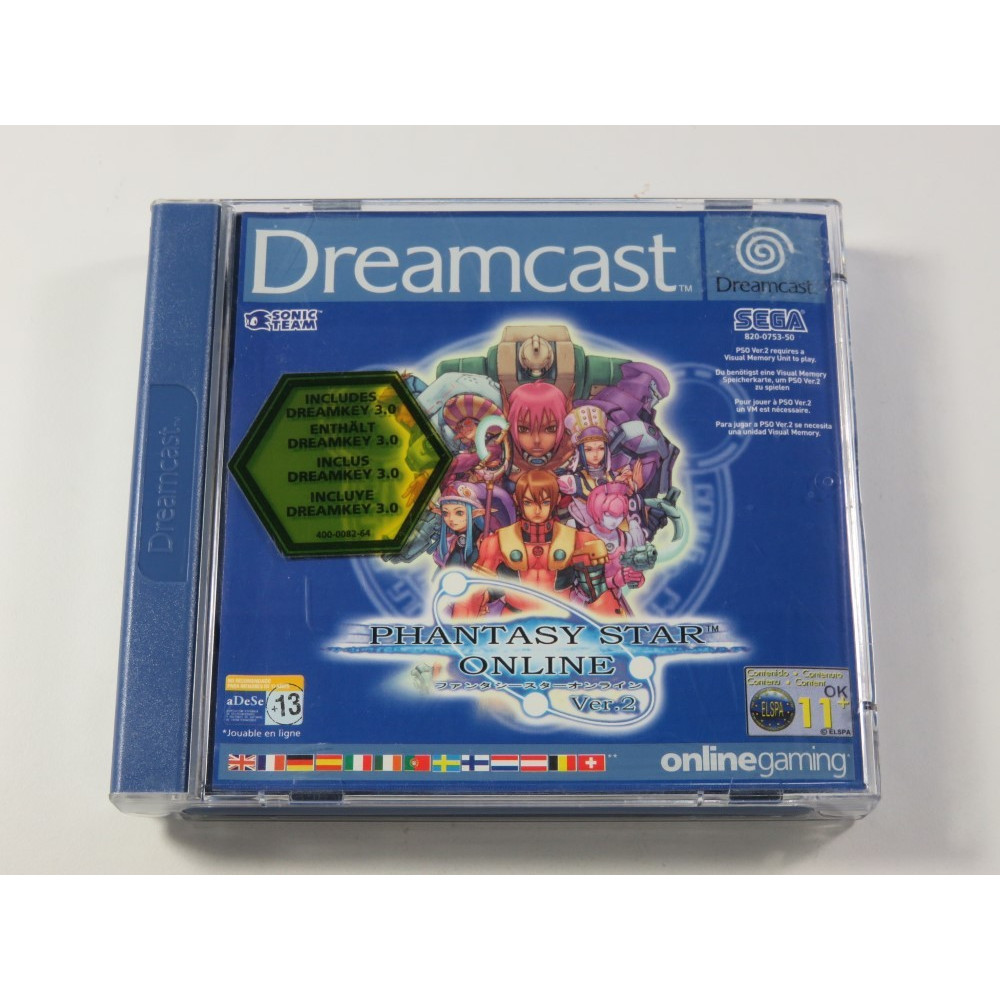 PHANTASY STAR ONLINE VER.2 DREAMCAST PAL-EURO (COMPLET - GOOD CONDITION)