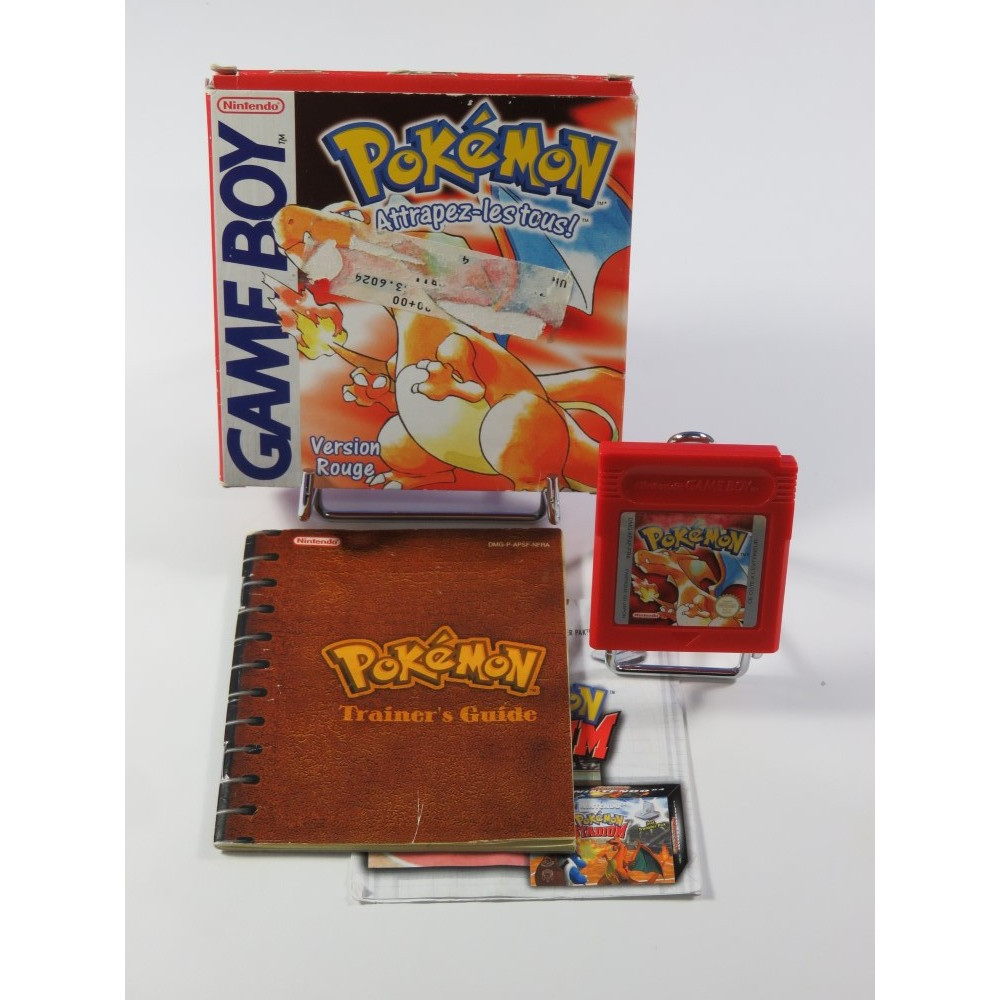 POKEMON - POCKET MONSTERS VERSION ROUGE NINTENDO GAMEBOY (GB) NFRA3 (COMPLET - PILE OK)