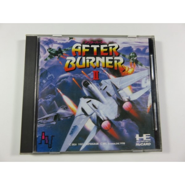 AFTER BURNER II NEC HUCARD NTSC-JPN (SHOOTING) (COMPLETE) RARE FRENCH VERSION