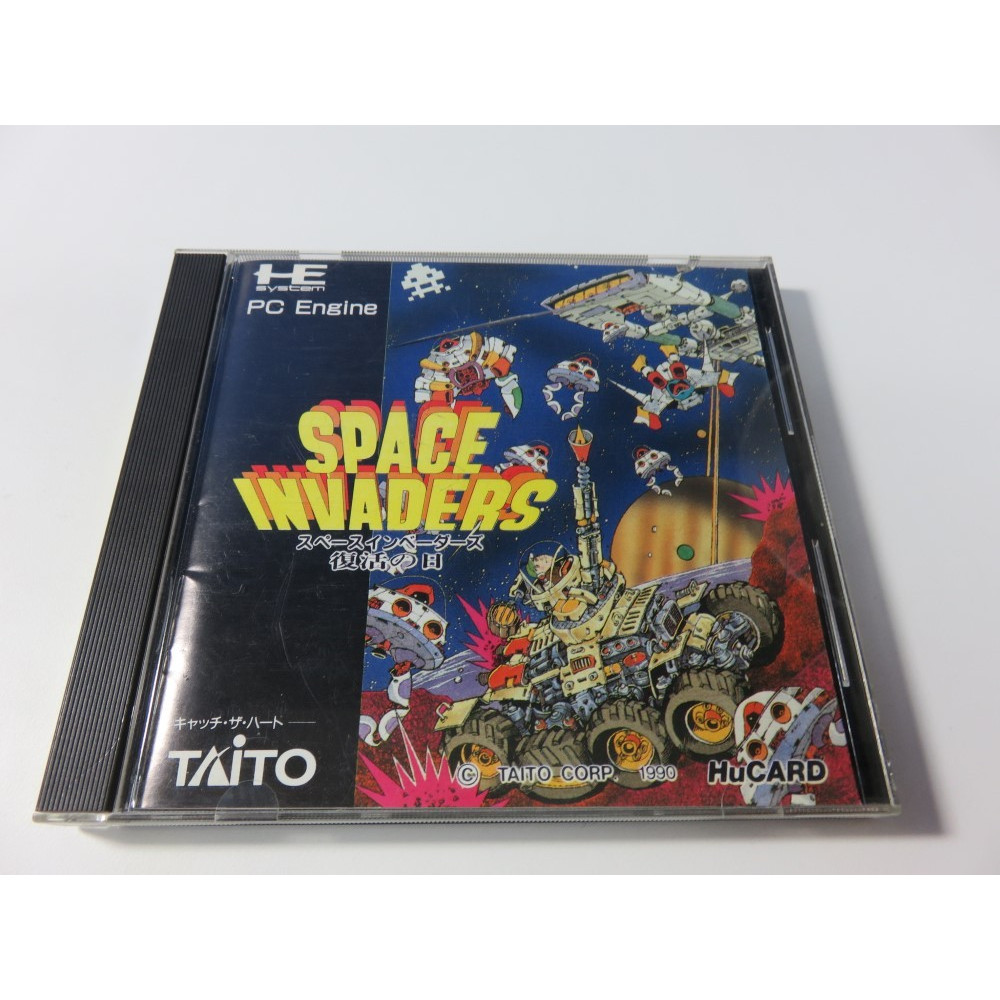 SPACE INVADERS NEC HUCARD NTSC-JPN (SHOOTING) - (COMPLETE - GOOD CONDITION)