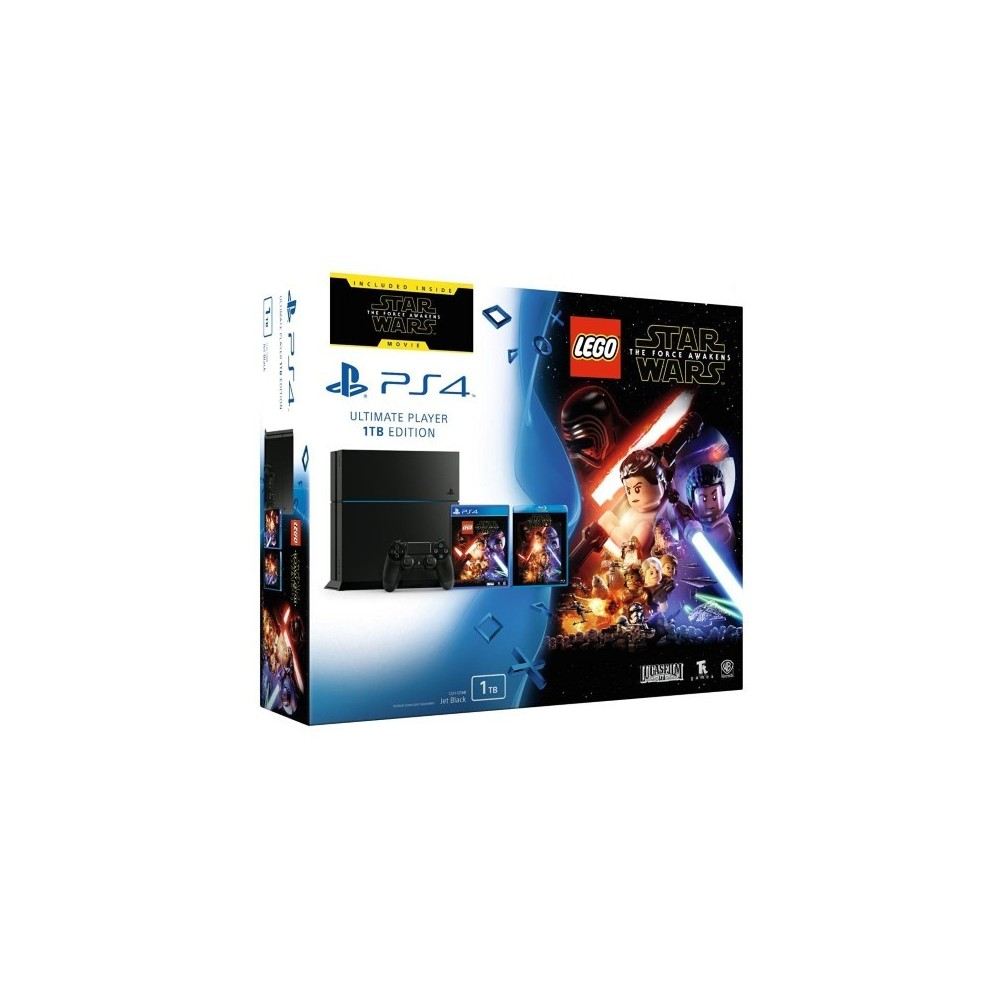 CONSOLE PS4 1 TO + LEGO STAR WARS + LE FILM FR NEW