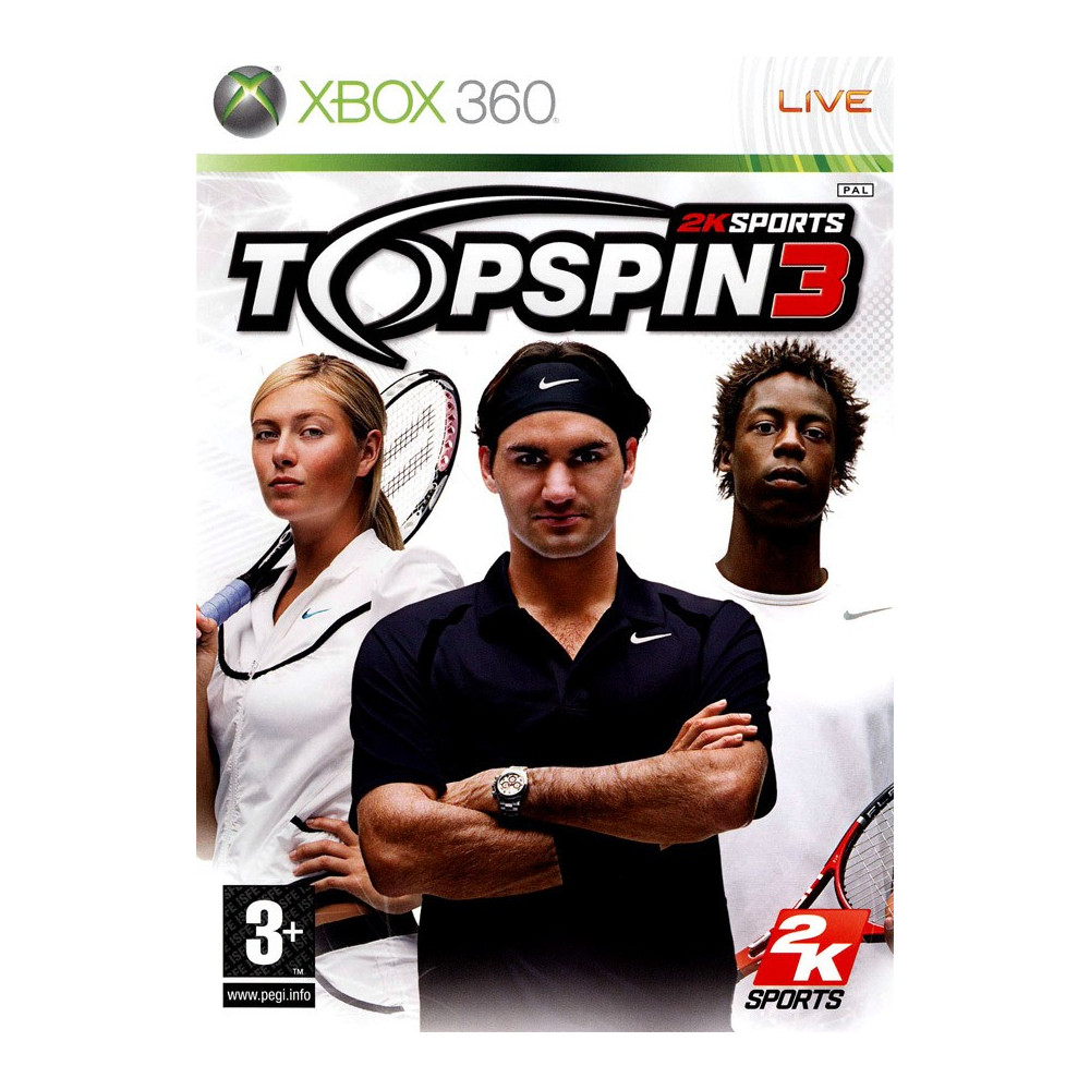 TOP SPIN 3 XBOX 360 PAL-FR OCCASION
