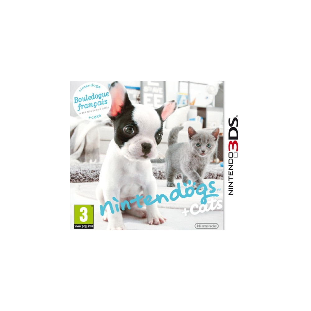 NINTENDOGS BOULEDOGUE FRANCAIS + CATS 3DS PAL-FR OCCASION