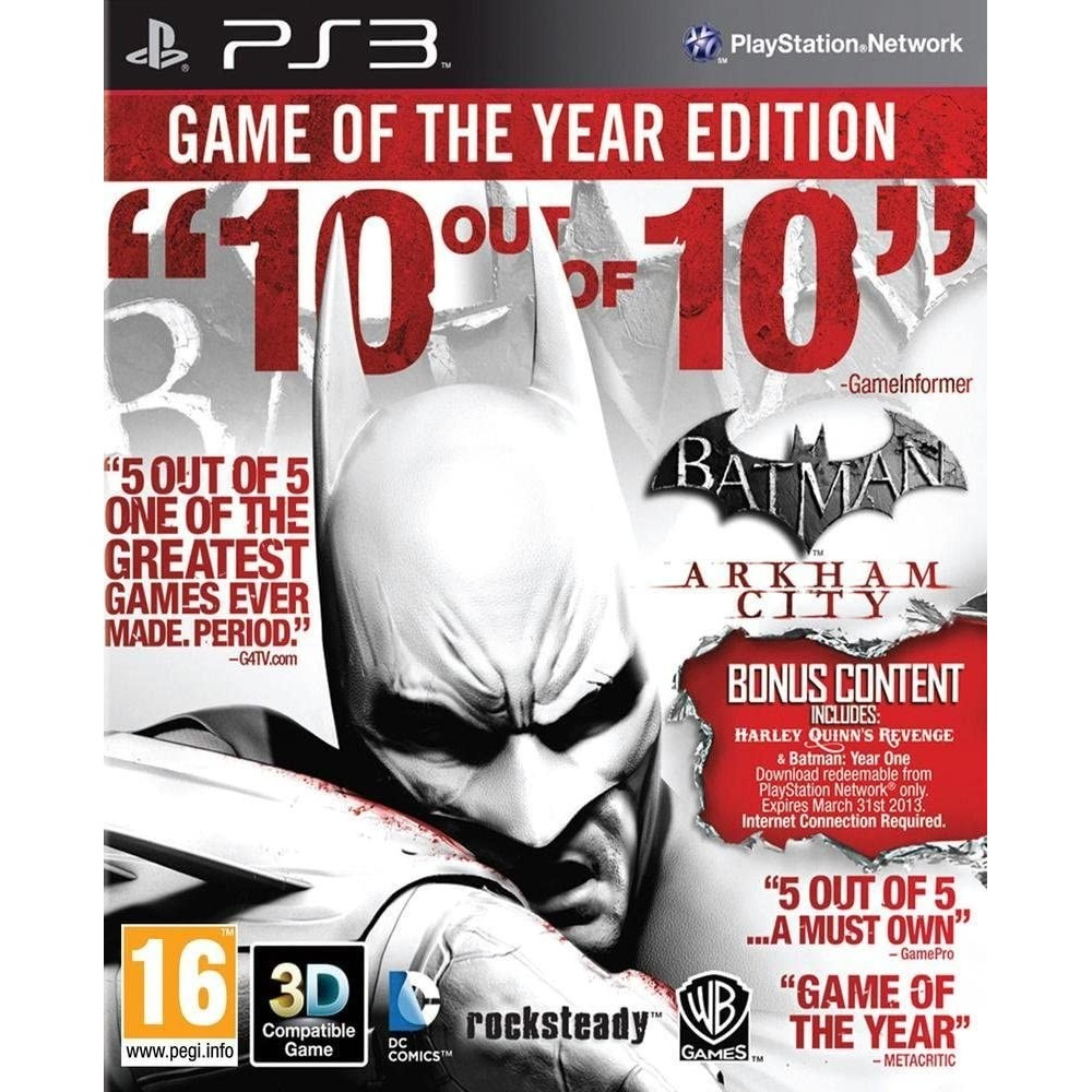 BATMAN ARKHAM CITY GAME OF THE YEAR EDITION PS3 EURO OCCASION