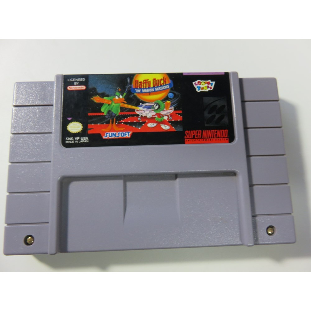 DAFFY DUCK THE MARVIN MISSIONS SUPER NINTENDO NTSC-USA (LOOSE-GOOD CONDITION)