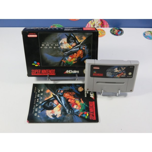 BATMAN FOREVER - THE REAL GAME BEGINS SUPER NINTENDO (SNES) PAL-EUR (COMPLET - VERY GOOD CONDITION)