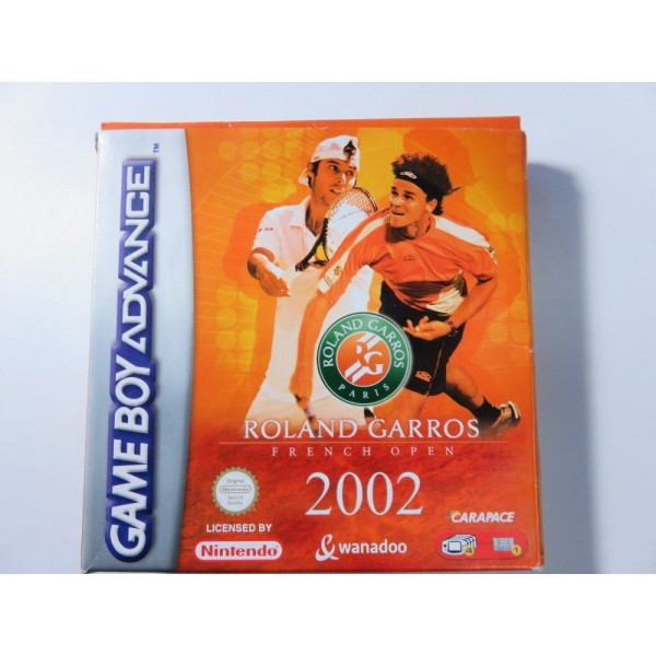 ROLAND GARROS FRENCH OPEN 2002 GAMEBOY ADVANCE GBA PAL-FRA (COMPLETE-GOOD CONDITION) WANADOOCARAPACE 2002