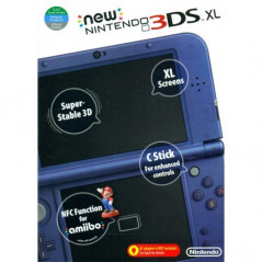 CONSOLE NEW 3DS XL BLEU METALLIQUE US OCC