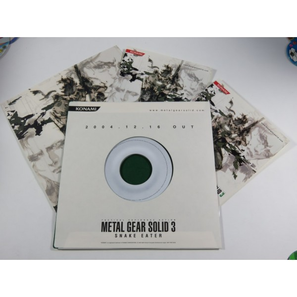 METAL GEAR SOLID 3 SNAKE EATER RELEASE PROMOTION ITEMS SET (TGS 2004) KONAMI JAPAN LIMITED RARE ITEMS VINYL STYLE