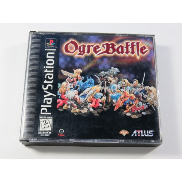 OGRE BATTLE LIMITED EDITION - THE MARCH OF THE BLACK QUEEN SONY PLAYSTATION 1 (PS1) NTSC-USA (COMPLET - GOOD CONDITION)