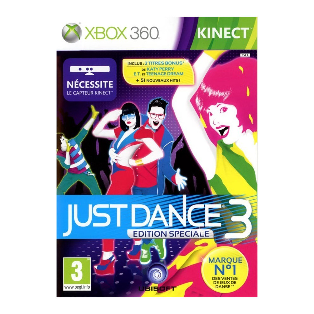 JUST DANCE 3 XBOX 360 PAL-FR OCCASION