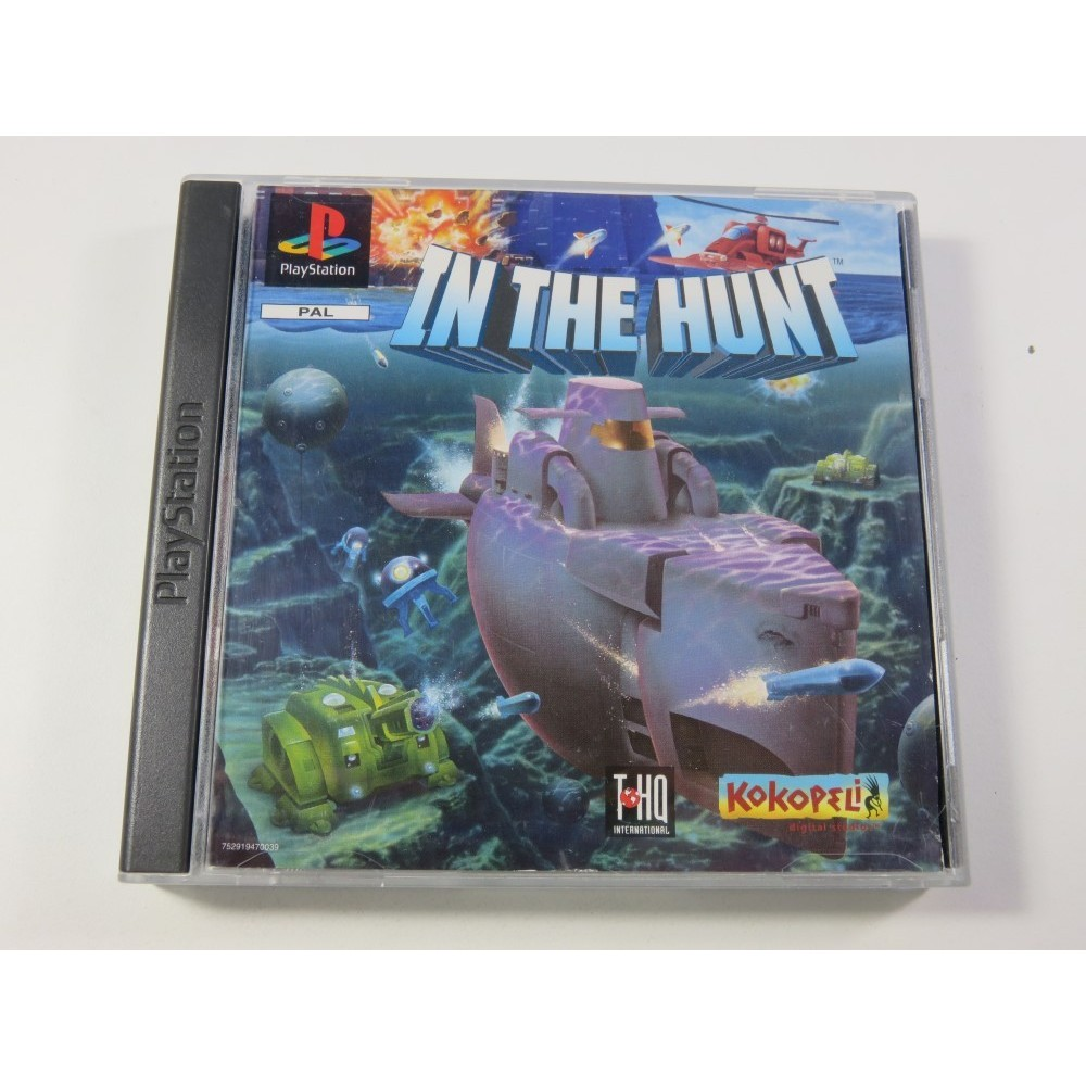 IN THE HUNT - KAITEI DAISENSOU SONY PLAYSTATION 1 (PS1) PAL-EURO (GOOD CONDITION OVERALL - WITHOUT BACK COVER)