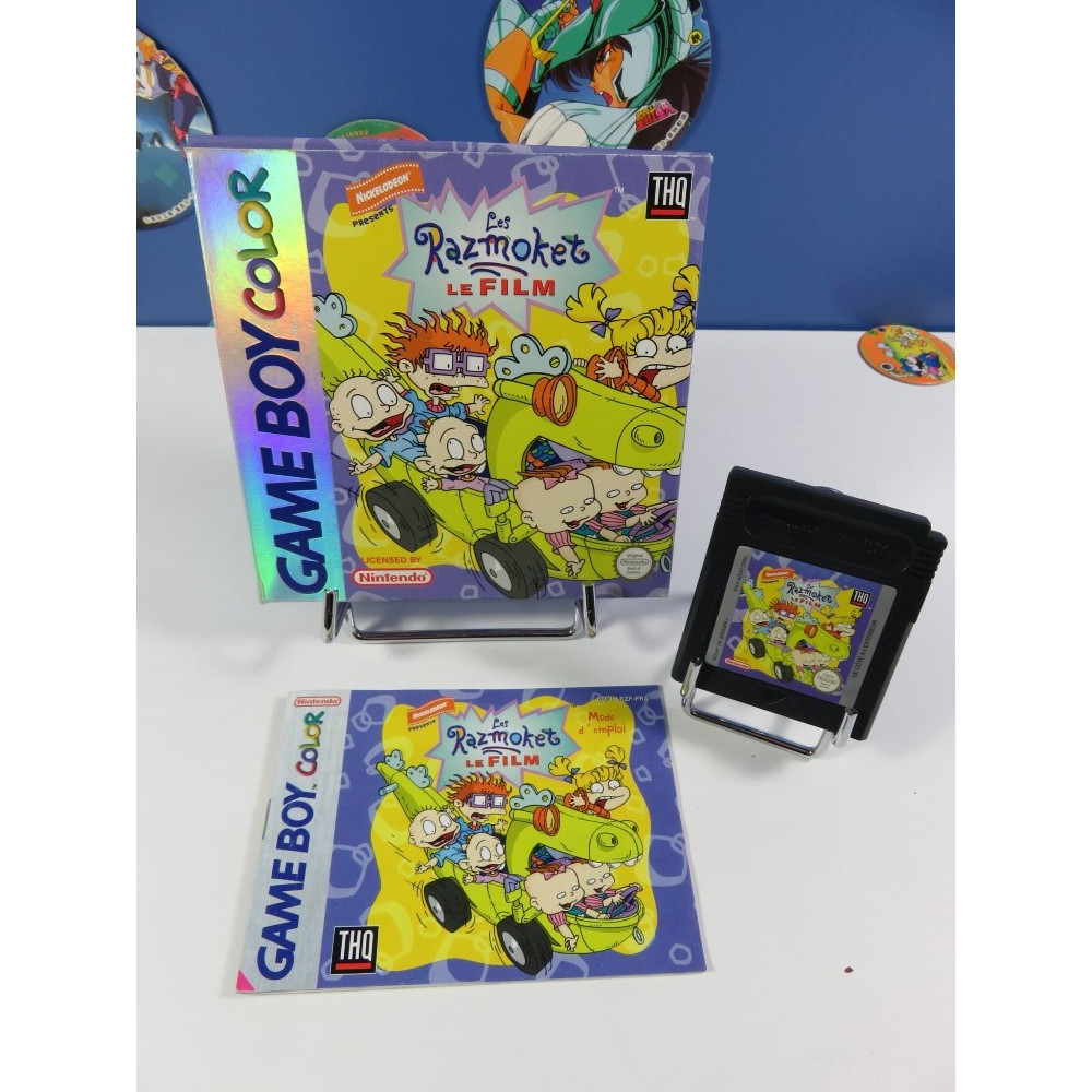 LES RAZMOKET LE FILM GAMEBOY COLOR (GBC) FRA (COMPLET - GOOD CONDITION)