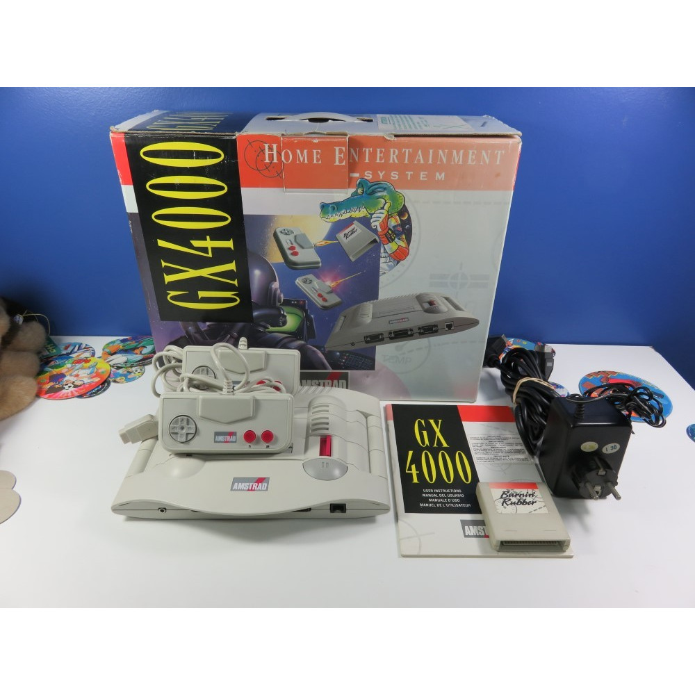CONSOLE AMSTRAD GX4000 PAL-EURO (COMPLET - GOOD CONDITION - 2 CONTROLLERS) (AVEC BURNIN RUBBER) (SERIAL:735-0825440)