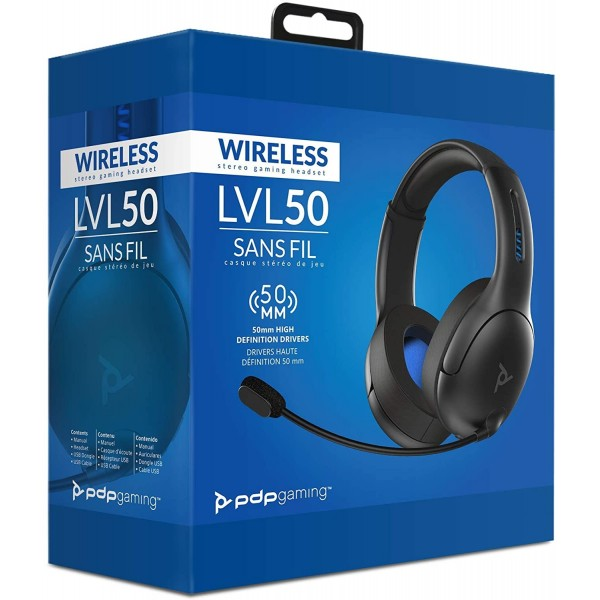 CASQUE WIRELESS LVL 50 PDP GAMING SONY PLAYSTATION 4 (PS4) EURO NEUF - BRAND NEW