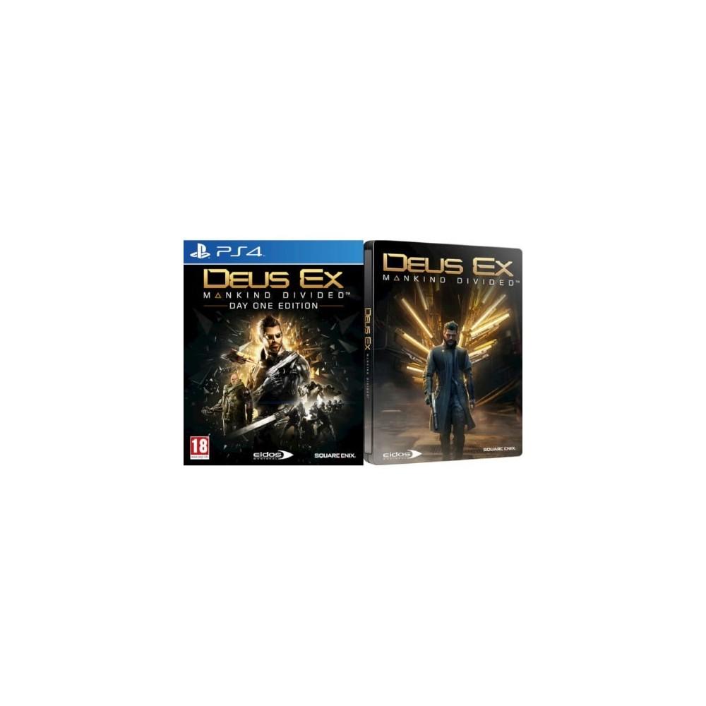 DEUS EX MANKIND DIVIDED STEELBOOK EDITION PS4 UK NEW