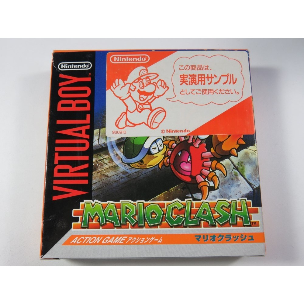 MARIO CLASH VIRTUAL BOY JPN (FULL SAMPLE-NOT FOR SALE EDITION-NINTENDO 930910) BRAND NEW