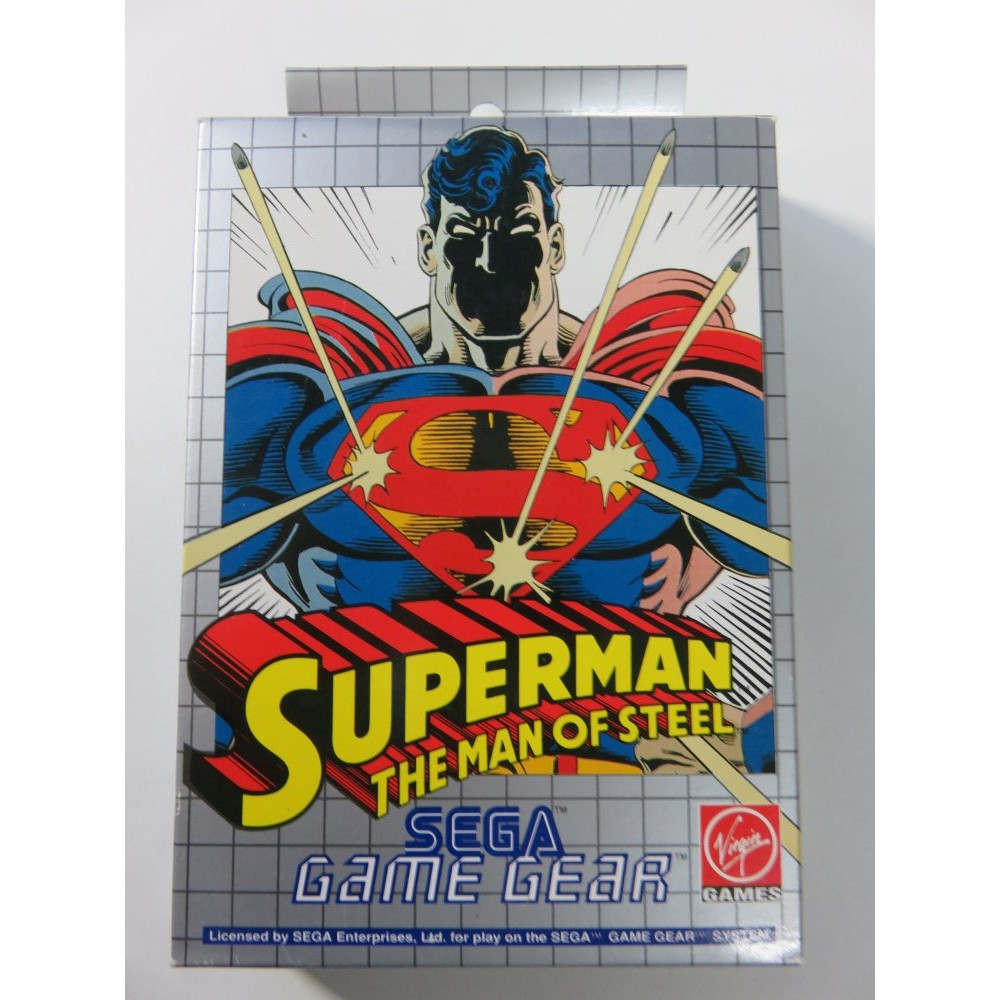 SUPERMAN THE MAN OF STEEL GAME GEAR EURO (COMPLETE-VERY GOOD CONDITION) VIRGIN GAMES 1993