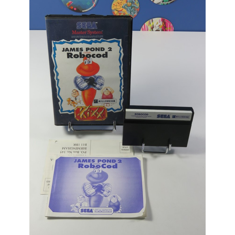 JAMES POND 2 - ROBOCOD SEGA MASTER SYSTEM PAL-EURO (COMPLET - GOOD CONDITION)
